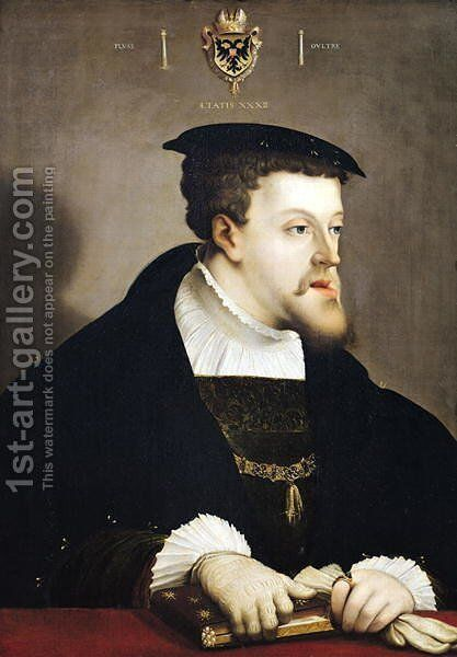Charles V. by Christoph Amberger - Reproduction Oil Painting