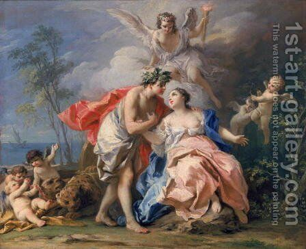 Bacchus and Ariadne by Jacopo (Giacomo) Amigoni - Reproduction Oil Painting