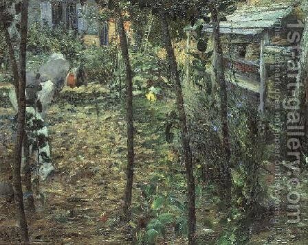 In the Garden, 1885 by Charles Angrand - Reproduction Oil Painting