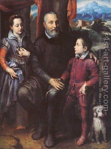 Portrait of the artist's family, Minerva by Sofonisba Anguissola - Reproduction Oil Painting