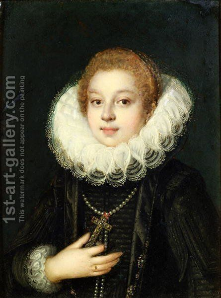 Self portrait by Sofonisba Anguissola - Reproduction Oil Painting