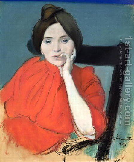 Portrait of a Woman, 1890 by Louis Anquetin - Reproduction Oil Painting