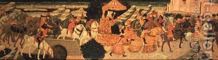 The Triumphal Procession of the Queen of Sheba by Apollonio di Giovanni - Reproduction Oil Painting