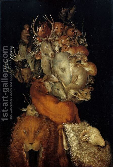 Earth  c.1570 by Giuseppe Arcimboldo - Reproduction Oil Painting