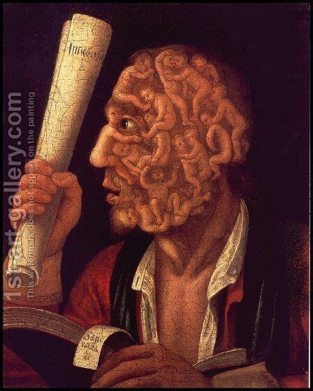 Portrait of Adam by Giuseppe Arcimboldo - Reproduction Oil Painting