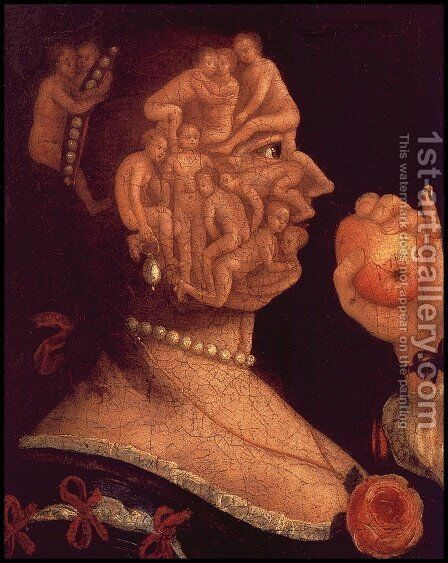 Portrait of Eve by Giuseppe Arcimboldo - Reproduction Oil Painting