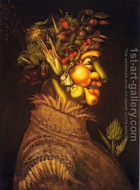 Summer (2)  1573 by Giuseppe Arcimboldo - Reproduction Oil Painting