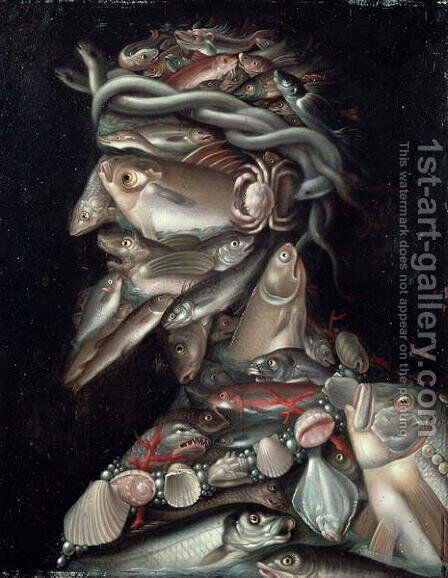 The Admiral by Giuseppe Arcimboldo - Reproduction Oil Painting