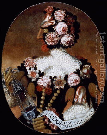 The Sense of Smell by Giuseppe Arcimboldo - Reproduction Oil Painting