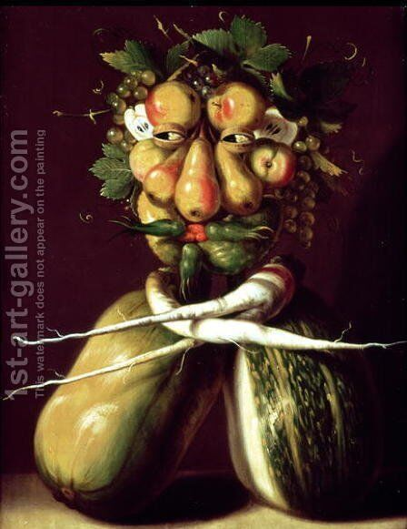 Whimsical Portrait by Giuseppe Arcimboldo - Reproduction Oil Painting