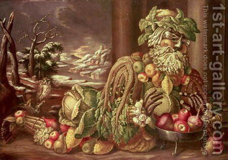 Winter (4) by Giuseppe Arcimboldo - Reproduction Oil Painting