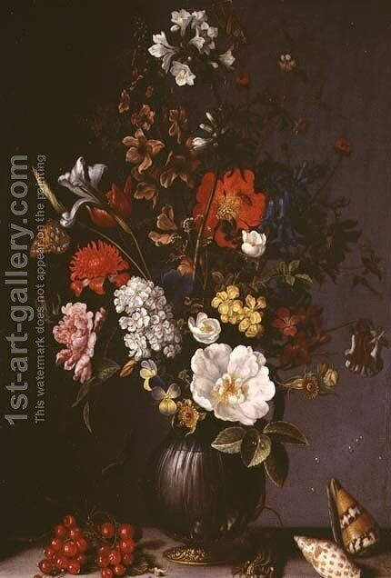 Still life with Flowers by Balthasar Van Der Ast - Reproduction Oil Painting