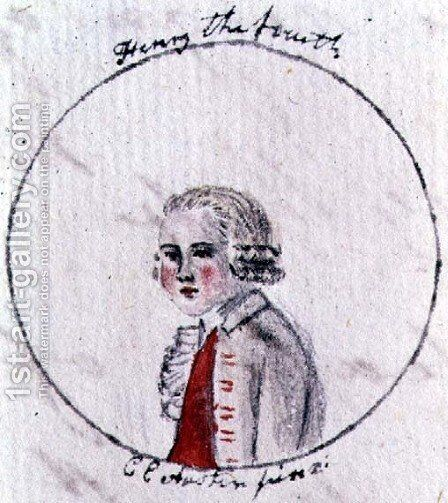 Henry IV,  c.1790 by Cassandra Austen - Reproduction Oil Painting
