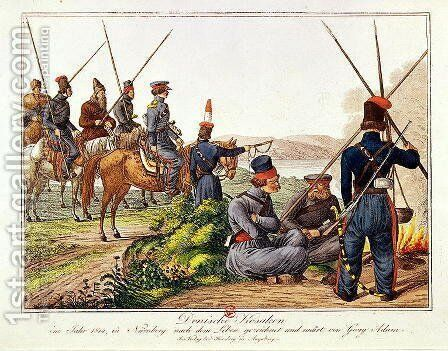 Don Cossacks in 1814 by Anonymous Artist - Reproduction Oil Painting