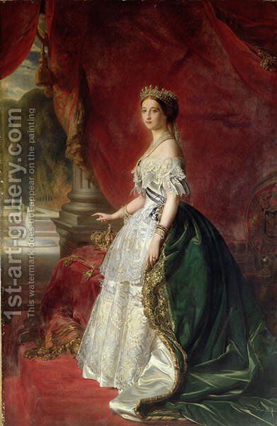 Portrait of Empress Eugenie of France by Anonymous Artist - Reproduction Oil Painting