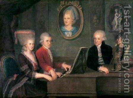 Portrait of Leopold Mozart (2) by Anonymous Artist - Reproduction Oil Painting