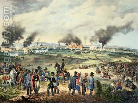 Siege of Vienna, 28th October 1848 by Anonymous Artist - Reproduction Oil Painting