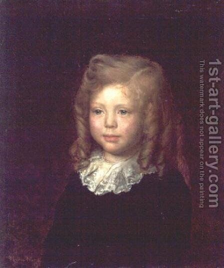 Sir Winston Churchill, aged four years old, 1878 by Ayron P Ward - Reproduction Oil Painting