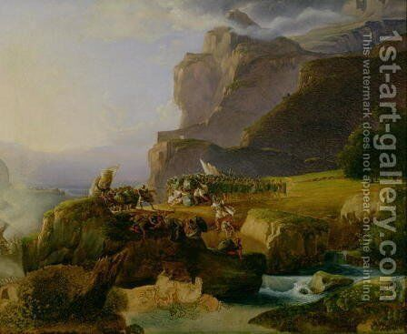 Battle of Thermopylae in 480 BC, 1823 by Massimo Taparelli d' Azeglio - Reproduction Oil Painting