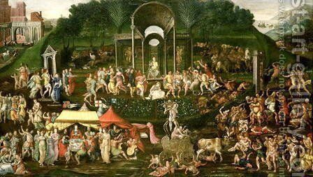 An Allegory of Temperance and Excess by Anonymous Artist - Reproduction Oil Painting