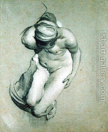 Female Nude by Jacob Adriaensz Backer - Reproduction Oil Painting