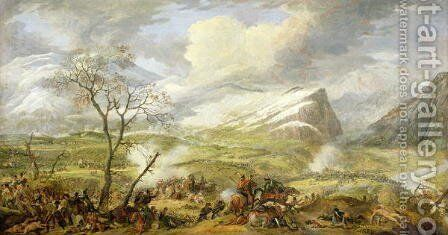 The Battle of Rivoli on the 14th January 1797 by Baron Louis Albert Bacler d'Albe - Reproduction Oil Painting