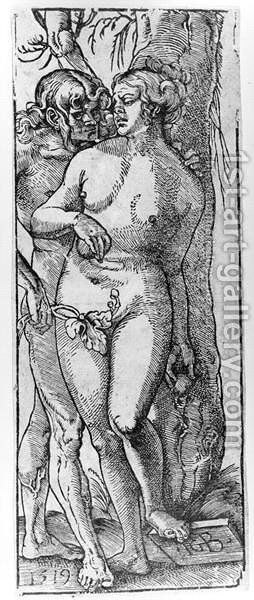 Adam and Eve 1519 by Hans Baldung  Grien - Reproduction Oil Painting