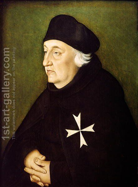 Knight of the Order of Malta 1534 by Hans Baldung  Grien - Reproduction Oil Painting