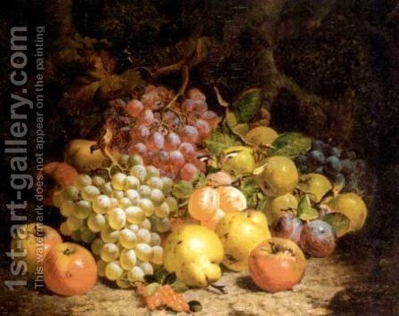 Still life of grapes, pears and apples 1873 by Charles Thomas Bale - Reproduction Oil Painting