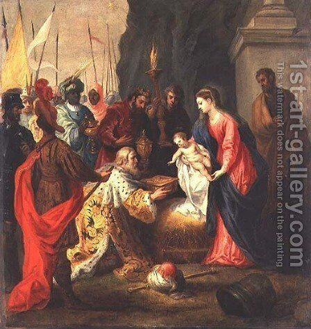 Adoration of the Magi by Hendrik van Balen, I - Reproduction Oil Painting