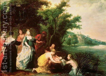 Pharaoh's Daughter Discovering Moses by Hendrik van Balen, I - Reproduction Oil Painting