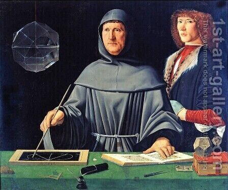 Portrait of Luca Pacioli by Jacopo de Barbari - Reproduction Oil Painting