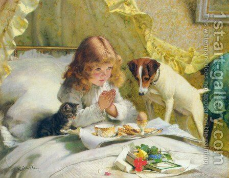 Suspense by Charles Burton Barber - Reproduction Oil Painting