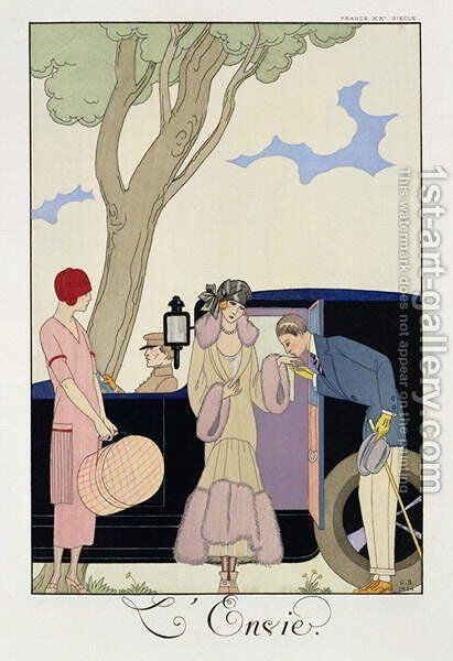 Envy 1914 by Georges Barbier - Reproduction Oil Painting