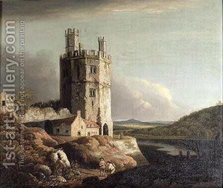 Eagle Tower, Caernarvon Castle by Benjamin Barker - Reproduction Oil Painting