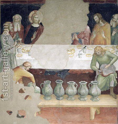 The Marriage at Cana, from a series of Scenes of the New Testament by Barna Da Siena - Reproduction Oil Painting