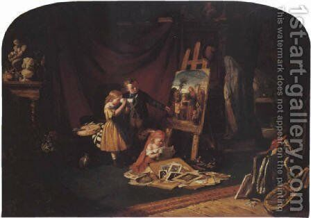 The Artist's Studio by Edward Charles Barnes - Reproduction Oil Painting