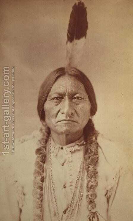 Sitting Bull, Sioux Chief  c.1885 by David Frances Barry - Reproduction Oil Painting