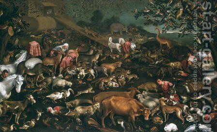 The Animals Guided onto Noah's Ark by Jacopo Bassano (Jacopo da Ponte) - Reproduction Oil Painting
