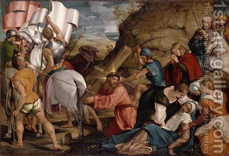 The Journey to Calvary c.1540 by Jacopo Bassano (Jacopo da Ponte) - Reproduction Oil Painting