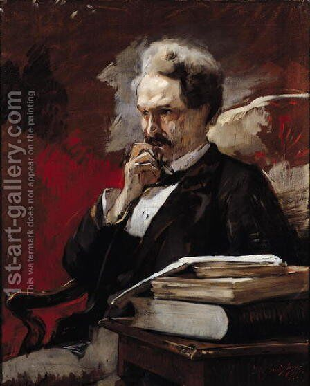 Henri Rochefort by Auguste Baud-Bovy - Reproduction Oil Painting