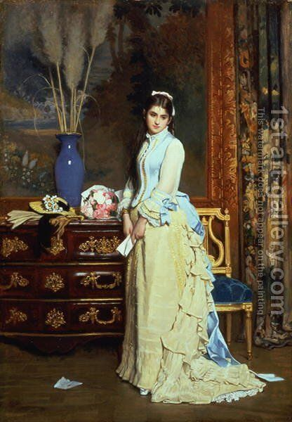 Indecision by Charles Baugniet - Reproduction Oil Painting