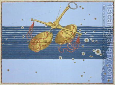 Constellation of Libra, from 'Uranometria' by Johann Bayer - Reproduction Oil Painting