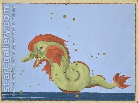 Constellation of Pisces, from 'Uranometria' by Johann Bayer - Reproduction Oil Painting