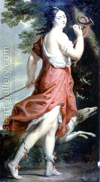 Madame de Montespan as Diana the Huntress by Charles Beaubrun - Reproduction Oil Painting