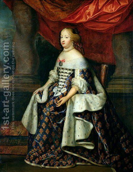 Portrait of Marie-Therese by Charles Beaubrun - Reproduction Oil Painting