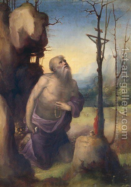 St. Jerome by Domenico Beccafumi - Reproduction Oil Painting