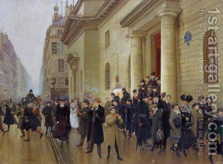 Leaving the Lycee Condorcet 1903 by Jean-Georges Beraud - Reproduction Oil Painting