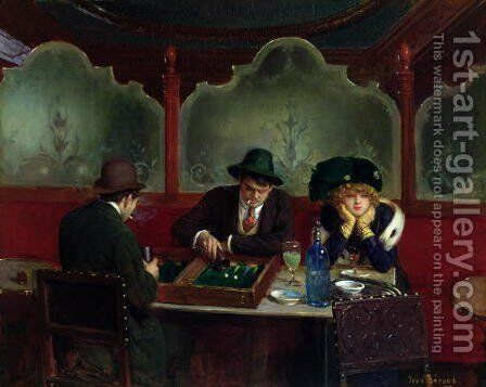 The Backgammon Players by Jean-Georges Beraud - Reproduction Oil Painting