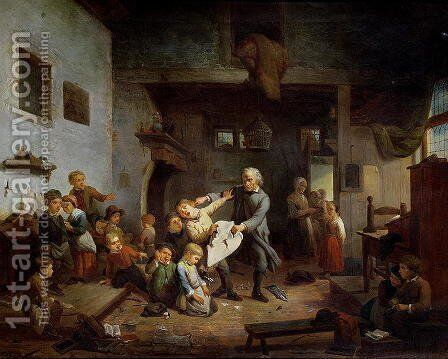 Administering Punishment by Anonymous Artist - Reproduction Oil Painting